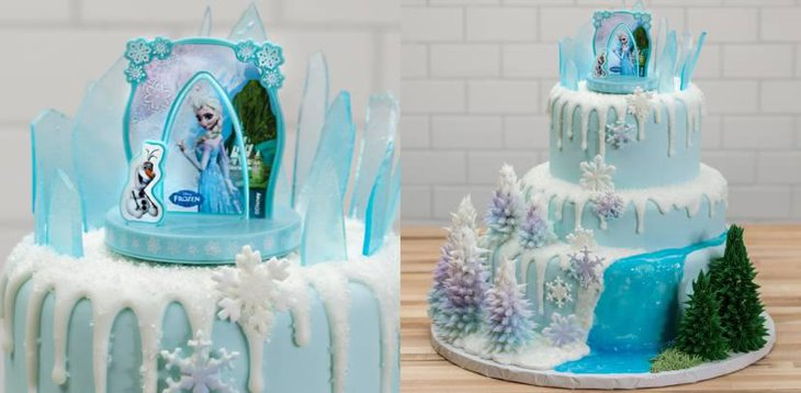 Three Tier Frozen Birthday Cake