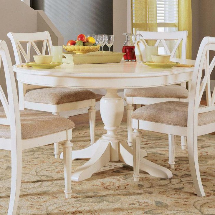 Round Dining Tables Ideas And Styles For Sophisticated: 37 Elegant Round Dining Table Ideas