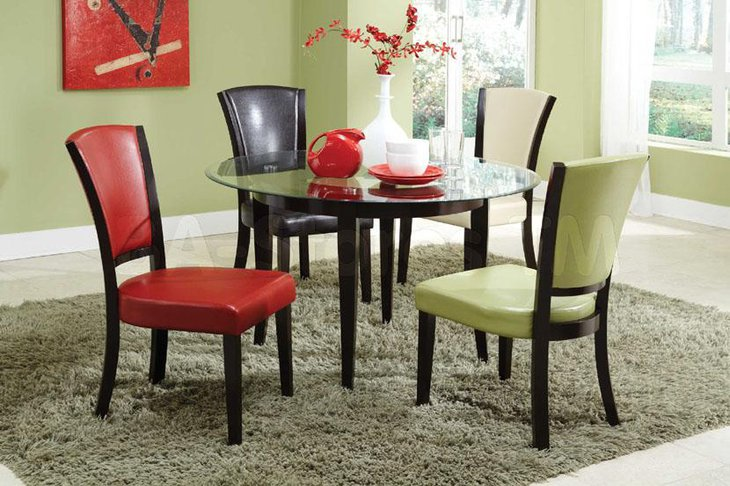 37 elegant round dining table ideas table decorating ideas for Trendy dining table sets