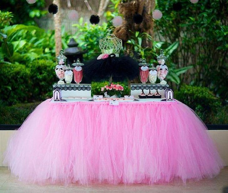 Tutu themed baby shower for girls