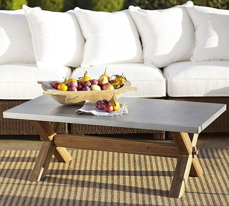 Unique Wooden Fruit Bowl Coffee Table Centerpiece Idea