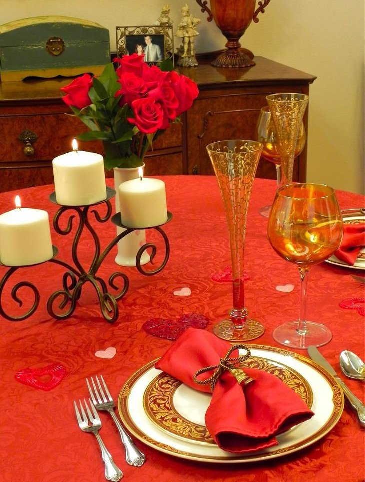 Valentine Tablescape With A Minimalist Appeal 1