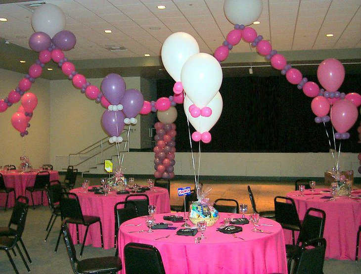 33 fantastic baby shower centerpiece ideas table for Baby shower hall decoration