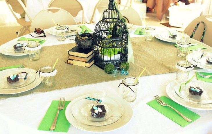 Vintage Birdcage Bridal Shower Centerpiece