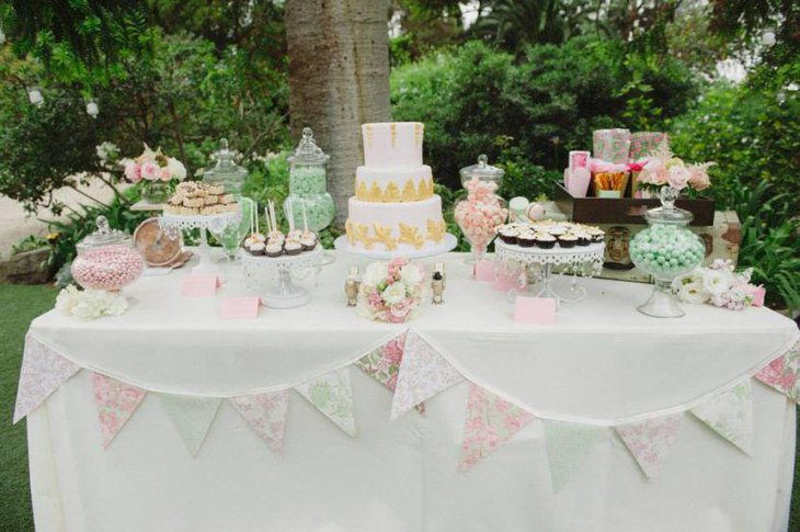 Vintage European themed sweets table