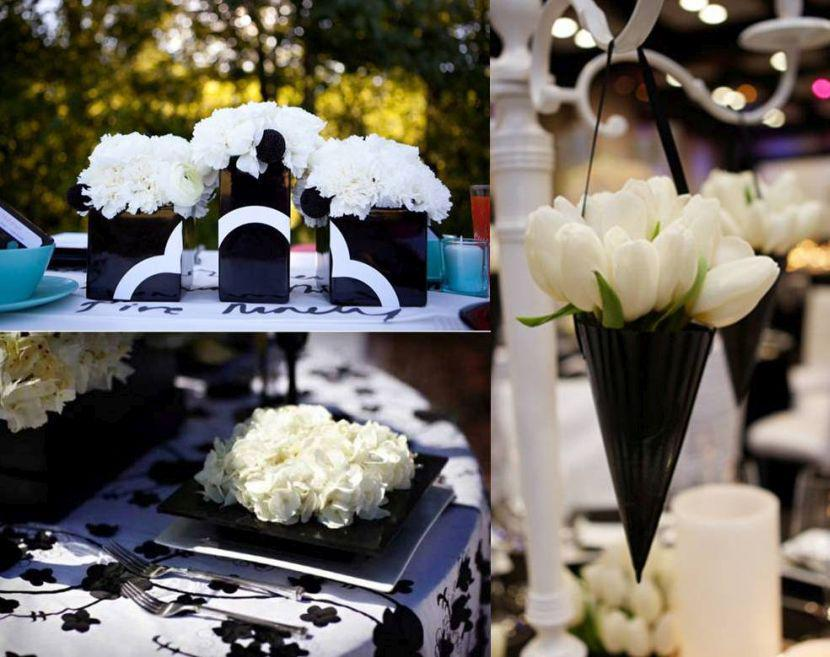 & 35 Black And White Wedding Table Settings | Table Decorating Ideas