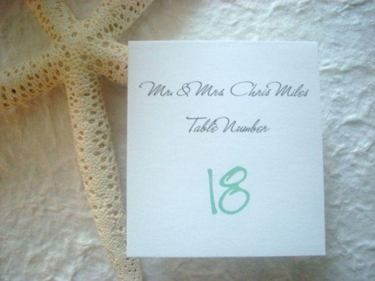Weddings Place Card