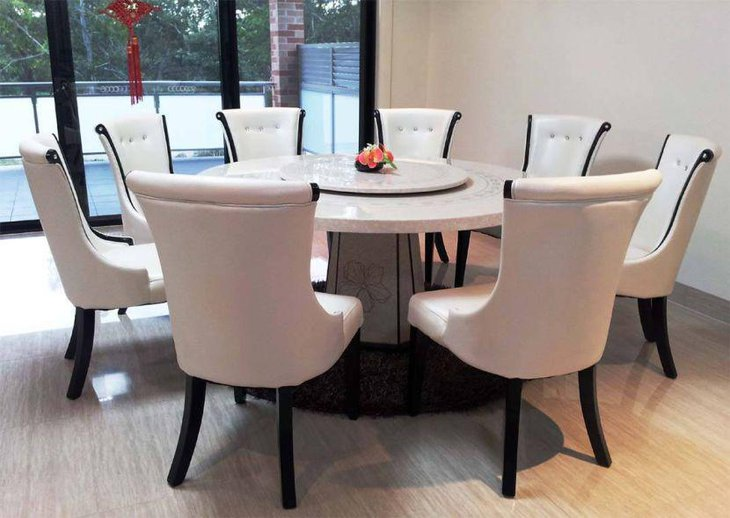39 Elegant Granite Dining Room Table Ideas | Table Decorating Ideas