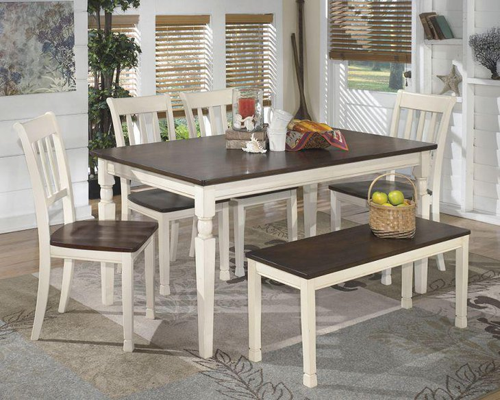 Whitesburg Modern Dining Table With 4 Chairs