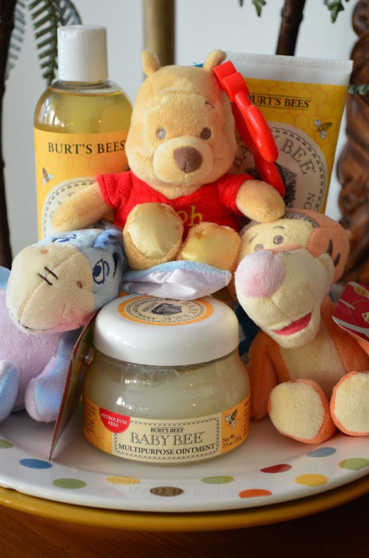 Winnie The Pooh baby shower favor oils and toys
