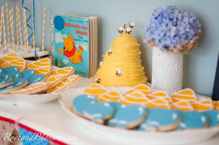 Winnie the Pooh Inspired Dessert Table