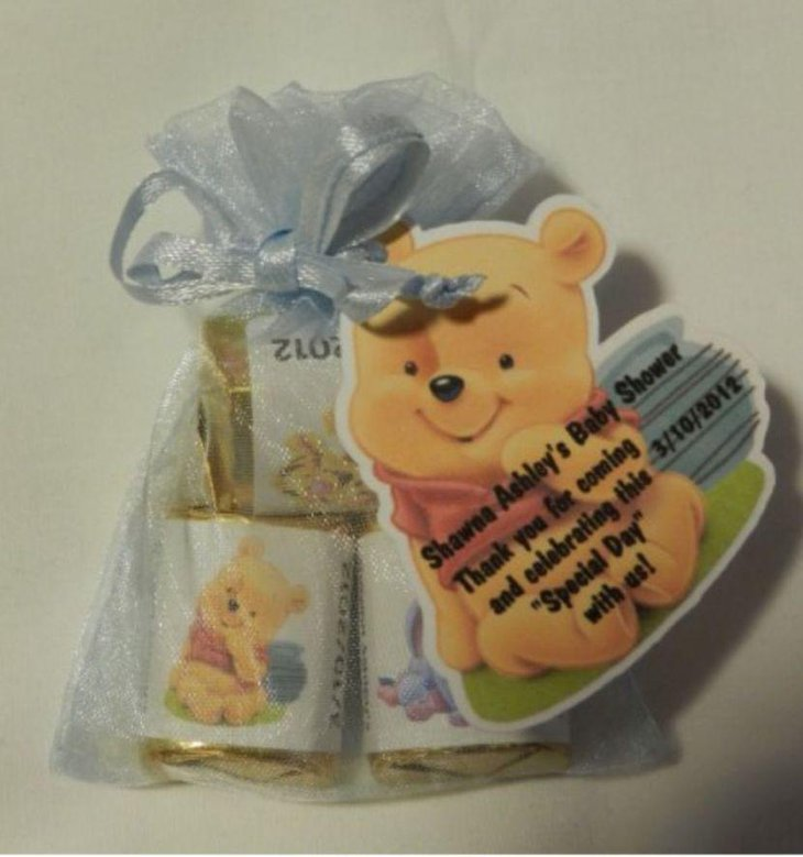 Winnie The Pooh themed baby shower gift pack favors